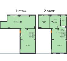 1 комнатная квартира 225,8 м², ЖК ROLE CLEF - планировка