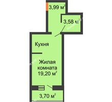 Студия 28,62 м², ЖК Парк Металлургов - планировка