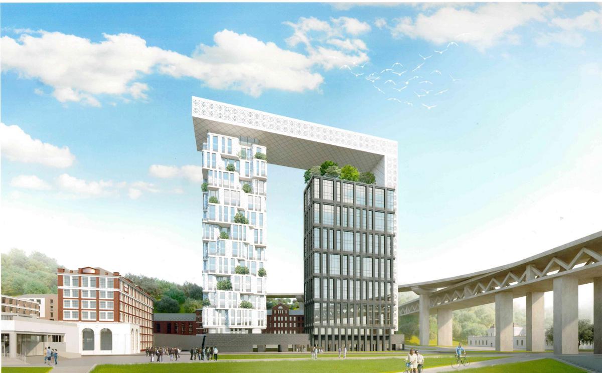 Архитекторы определились с проектом многофункционального здания на Черниговской