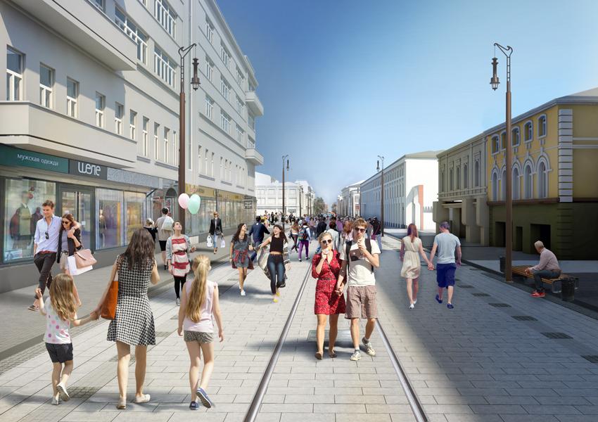 Проект благоустройства Большой Покровской в Нижнем Новгороде - фото 1