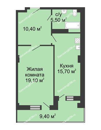 1 комнатная квартира 55,4 м² - ЖК Дом на Береговой