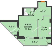 Студия 55,9 м² - ЖК на ул. Греческого Города Волос, 82