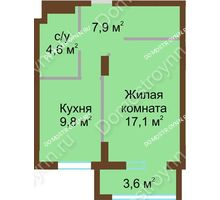 1 комнатная квартира 43 м² - ЖК Подкова Сормовская