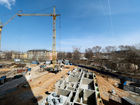 Ход строительства дома 61 в ЖК Москва Град - фото 47, Апрель 2019