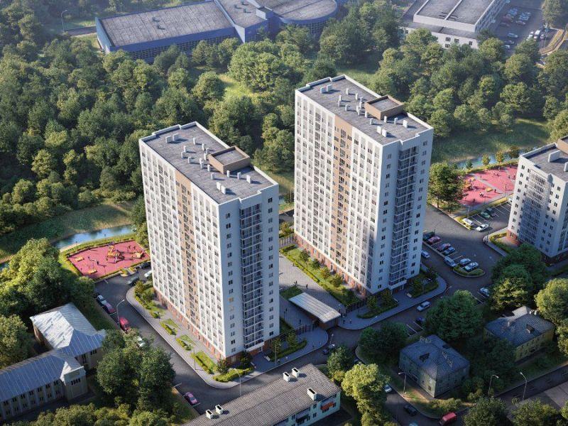 двухкомнатная квартира в новостройке на улице Героя Советского Союза Сафронова
