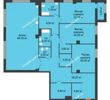 3 комнатная квартира 213,7 м², ЖК ROLE CLEF - планировка