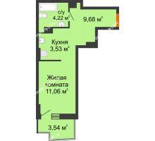 Студия 29,71 м² в ЖК Город у реки, дом Литер 7 - планировка