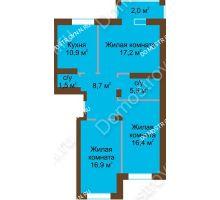 3 комнатная квартира 79,2 м² - Жилой дом: в квартале улиц Вольская-Витебская